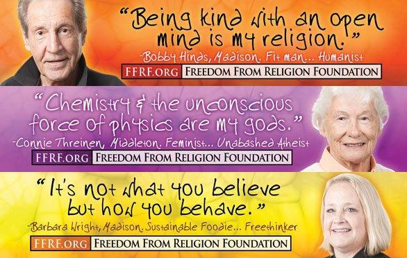 Freedom From Religion Foundation Ads Urge Atheists To Come