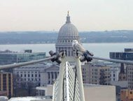 To See Capitol Towering Above Isthmus >> A Snowy Owl Creates A Stir In Madison Isthmus Madison Wisconsin