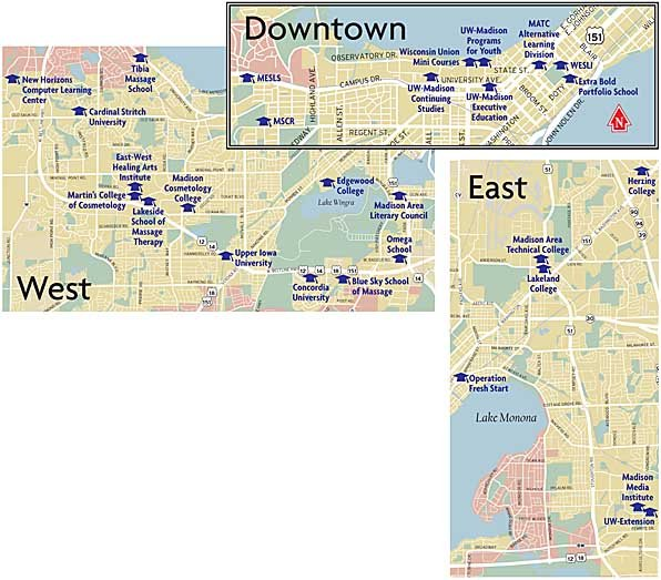 Matc Campus Map.The List The Maps Isthmus Madison Wisconsin