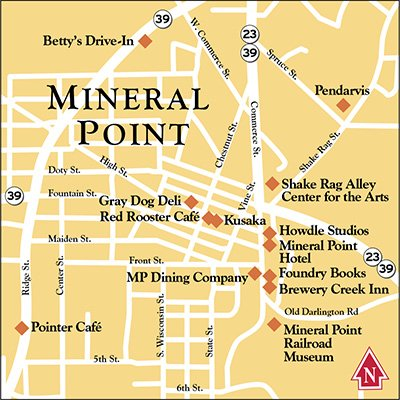 Destination Mineral Point Isthmus Madison Wisconsin