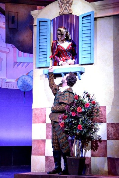 """a review of the stage production of kiss me kate """"kiss me kate"""" is a play within a play and in essence actress to sing the lead solo on of the best production numbers in the show (stage doorman."""