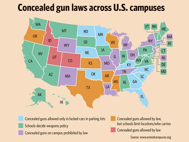 Campus Carry Isthmus Madison Wisconsin - Us carry map