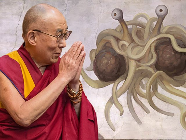 The Dalai Lama And The Church Of The Flying Spaghetti