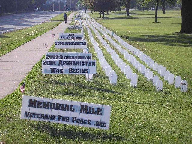 Veterans For Peace Memorial Mile >> Memorial Mile Isthmus Madison Wisconsin