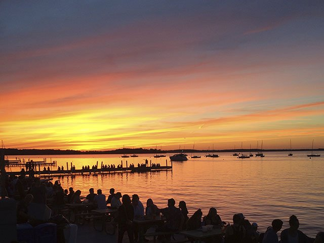 The Memorial Union Terrace is one of the best places in Madison to catch the sunset.