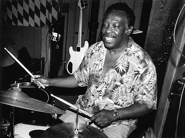 Clyde Stubblefield at Inn Cahoots club, August 1991