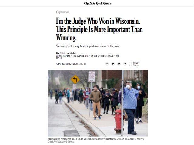 NYT op-ed by Jill Karofsky