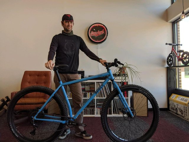 Black Saddle Bike Shop owner Mitch Pilon