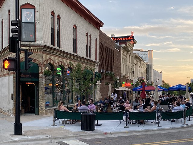 Genna's outdoor patio July 10, 2020