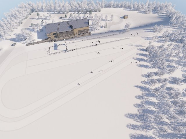 Rendering of proposed cross-country ski facility in Middleton