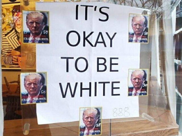 Johnson Public House Trump sign