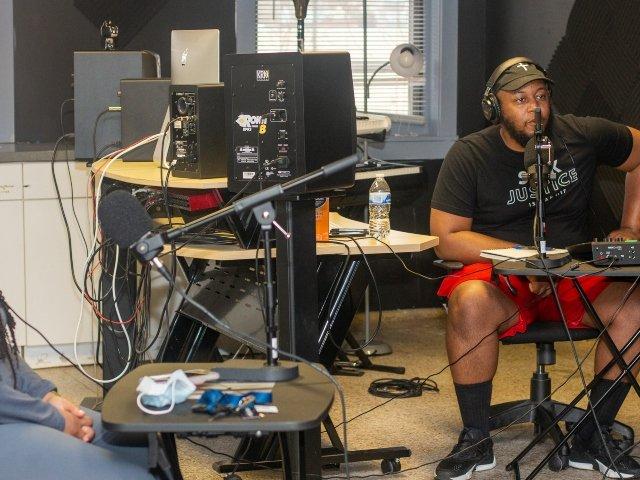 Richard Jones Jr. in studio of Oddly Arranged Media