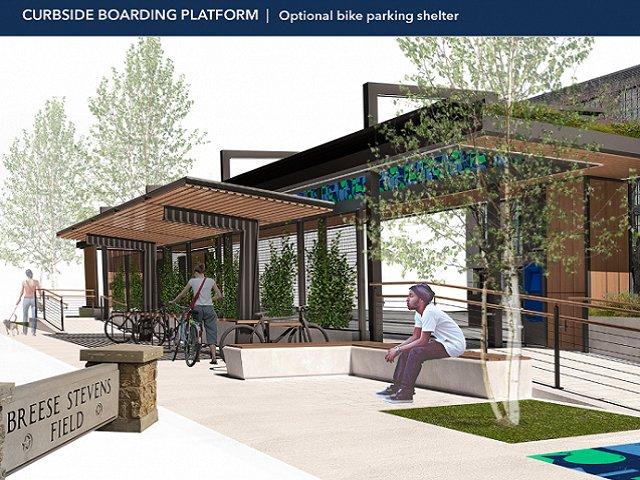 Proposed design for Madison bus rapid transit station