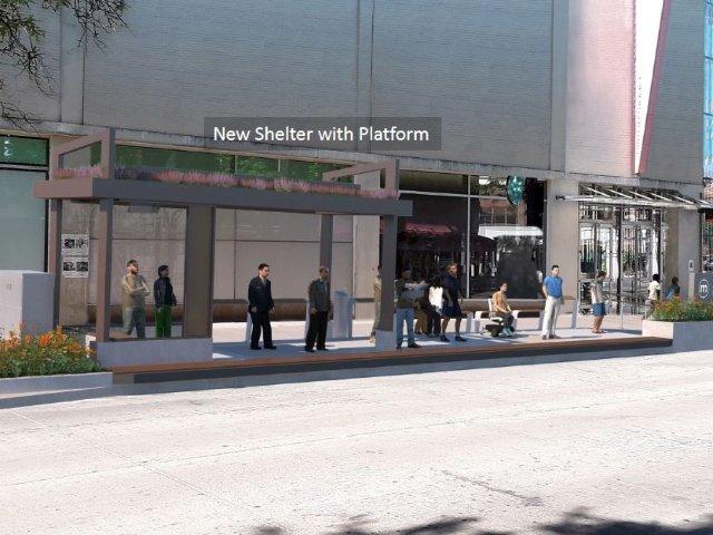 Revised shelter design for State Street