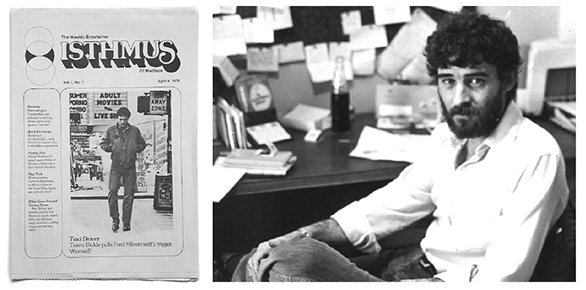 Vince O'Hern and first issue of Isthmus.jpeg