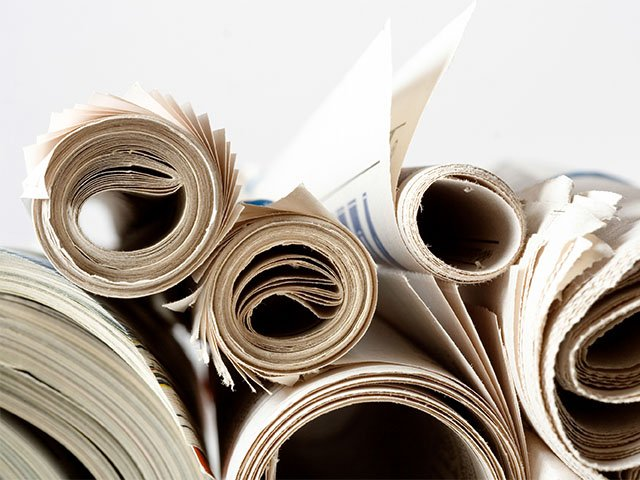 rolls of printing paper
